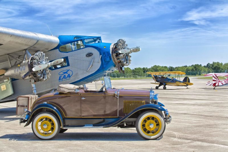 Ford Tri-Motor & Ford Model A at Anderson Municipal Airport – Darlington Field – Anderson, Indiana
