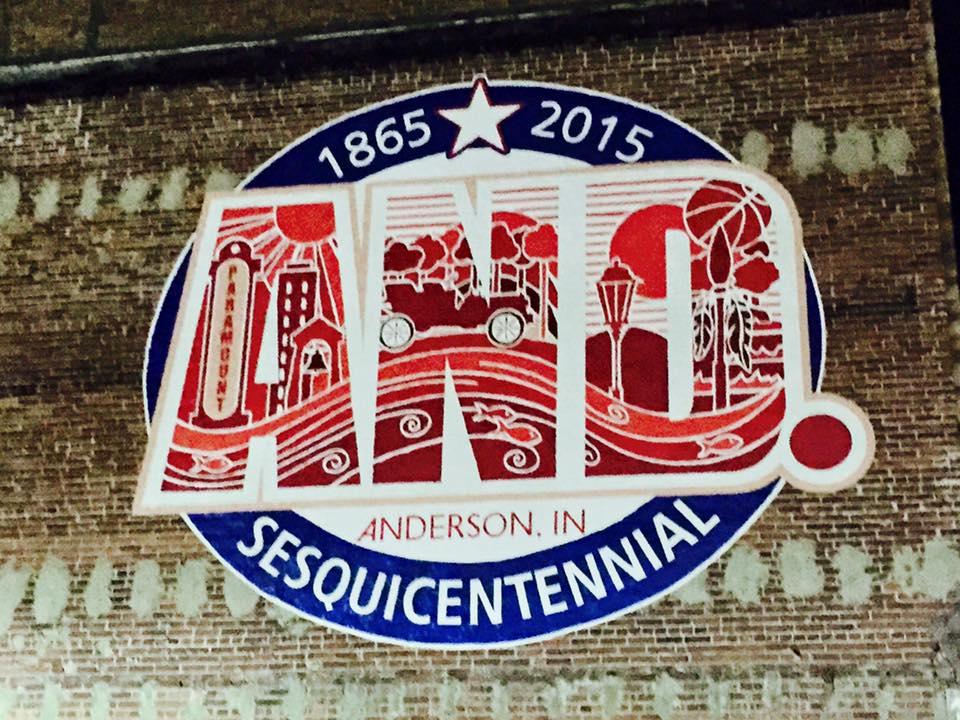 Anderson Sesquicentennial Mural – downtown Anderson, Indiana